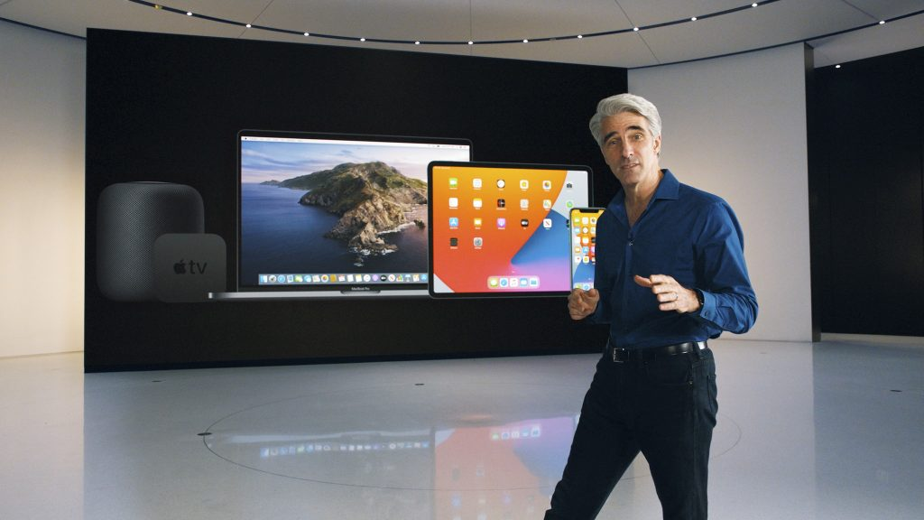 screenshot from Apple's virtual event